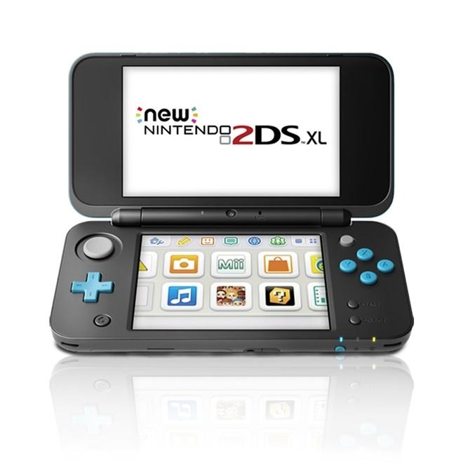 Console New Nintendo 2DS XL Preto e Turquesa + Mario kart 7 2DS XL Nintendo