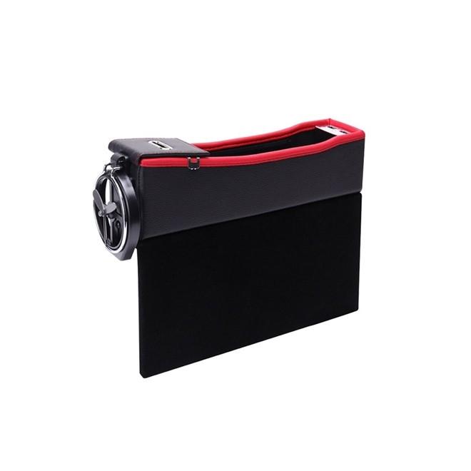 Console Universal para Carro em Couro com Porta Copo Preto Preto BestPlus