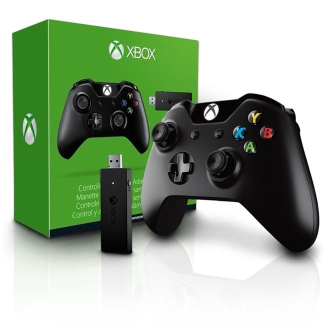 Controle Xbox One Sem Fio Com Adaptador para PC 1697/1713 Microsoft