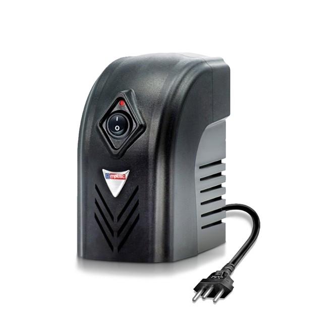 Estabilizador 500va Bivolt Preto Protetor Eletrônico. F60002 EMPLAC