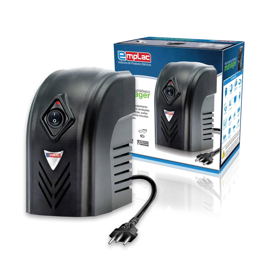 Estabilizador 500va Mono Protetor Eletronico 4Tomadas 10A F60000 EMPLAC