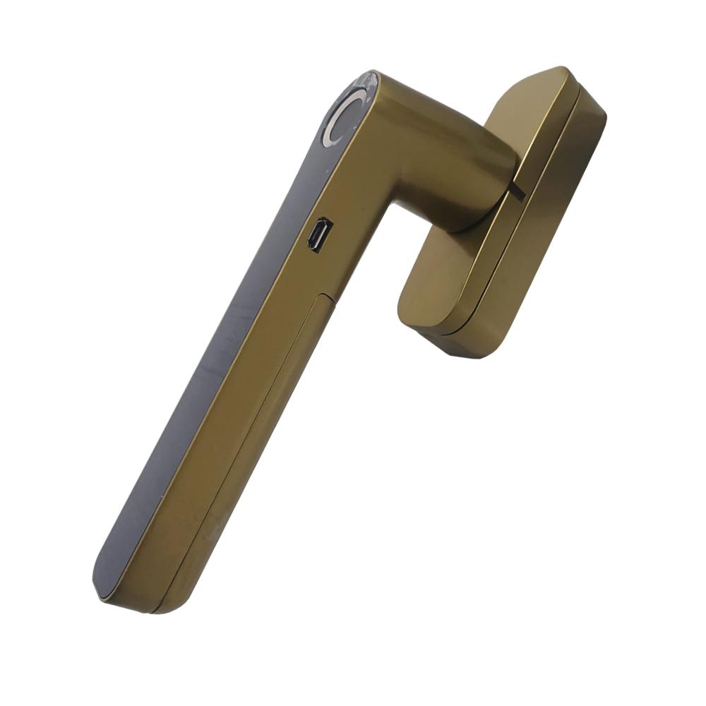 Fechadura Eletronica Digital Biometrica Dourada WF-013 GTA Tech