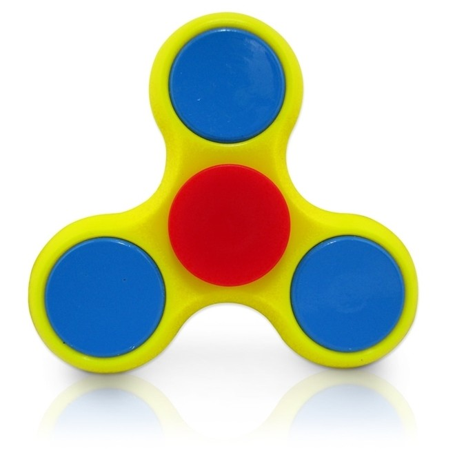 Fidget Hands Spinners Amarelo e Azul Rolamento Anti Estresse  Splash