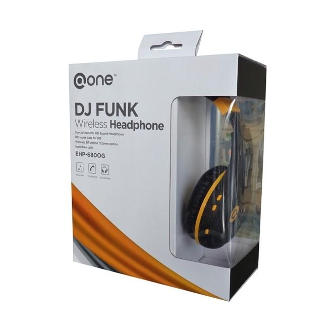 Fone de Ouvido Gamer DJ FUNK Sem Fio Bluetooth  EHP-680OG MARVO