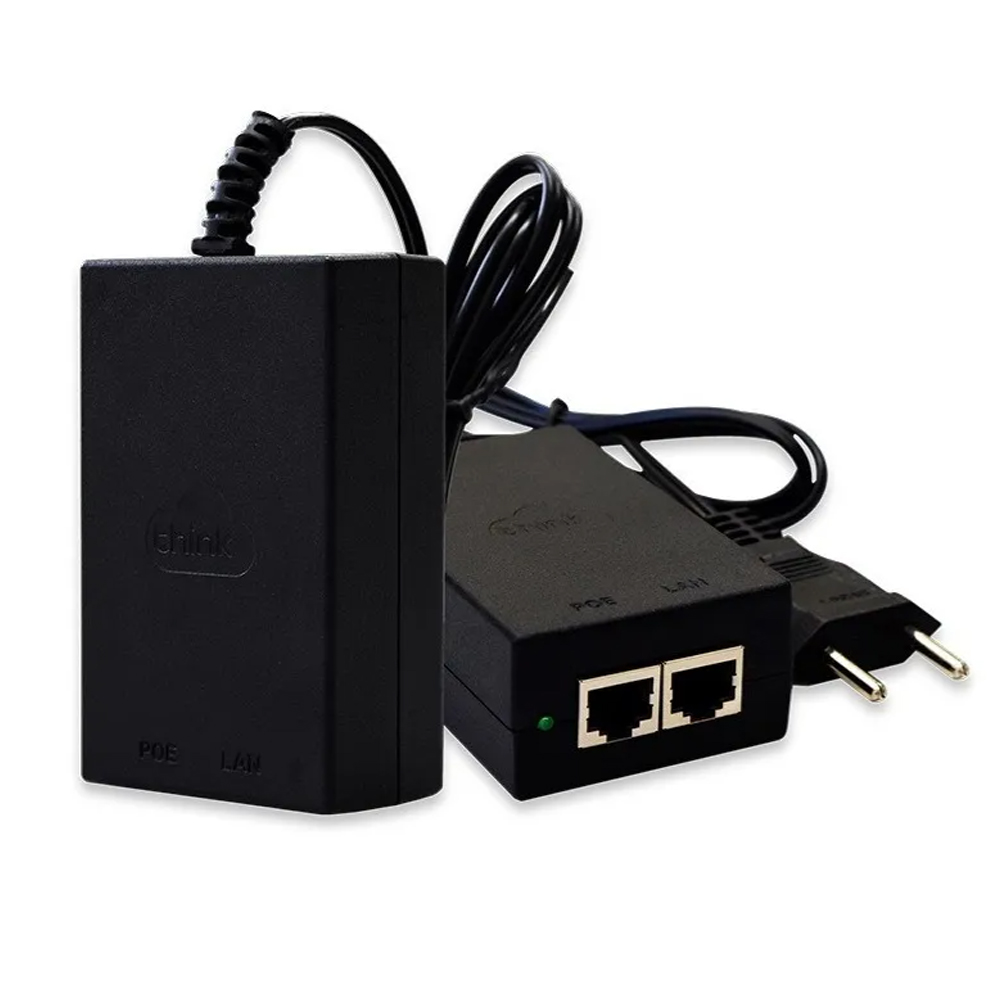 Fonte Poe 48VDC 24W 0.5A Gigabit TKPS-48-PoE-G Think