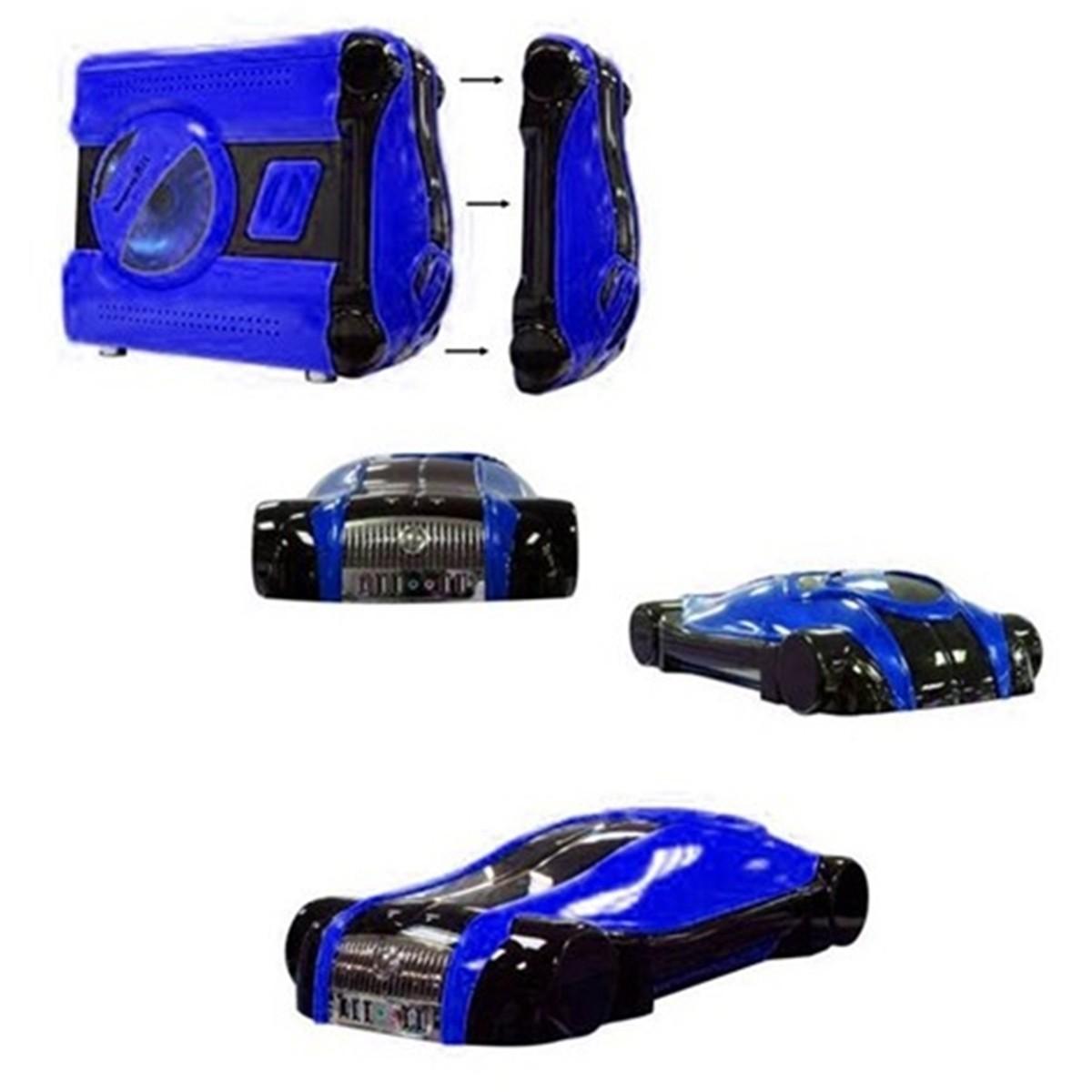 Gabinete 4 Baias Gamer Azul Frente Removivel CAR GDI (CHINA)