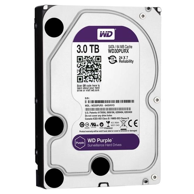 Hd  3Tb Sata 3 5400rpm 64mb 3,5 Purple WD30PURZ WESTERN DIGITAL