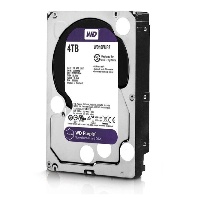 Hd  4tb Sata 3 64mb 5400rpm 3,5 Purple  WD40PURZ Western Digital