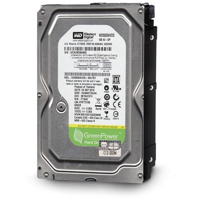 Hd   500gb Sata 2 32mb 7200rpm 3,5 Pull WD5000AVDS Western Digital