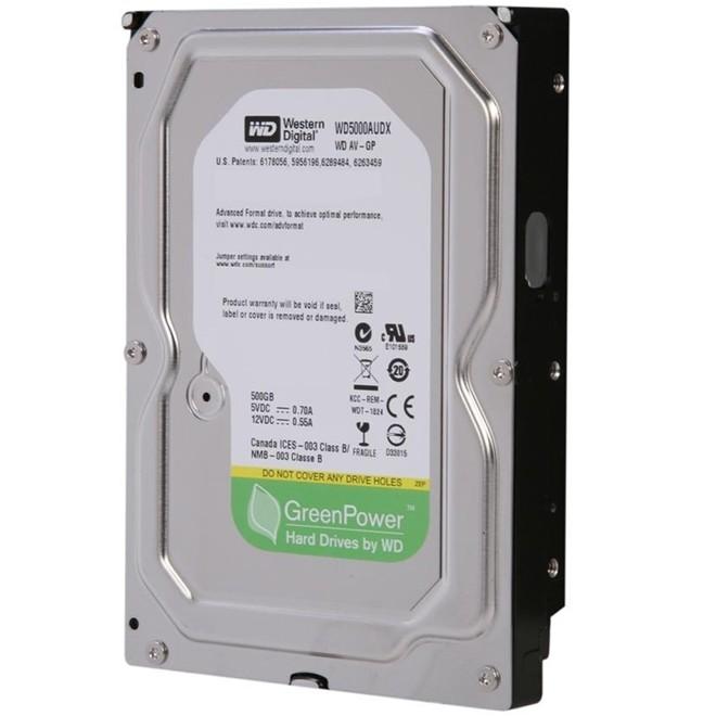 Hd Interno 500gb Sata 3 32mb 7200rpm Pull Wd5000audx Wester Digital