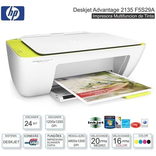 Impressora Multifuncional Jato Color DJ 2135 20ppm Advantage F5S29A HP 2135
