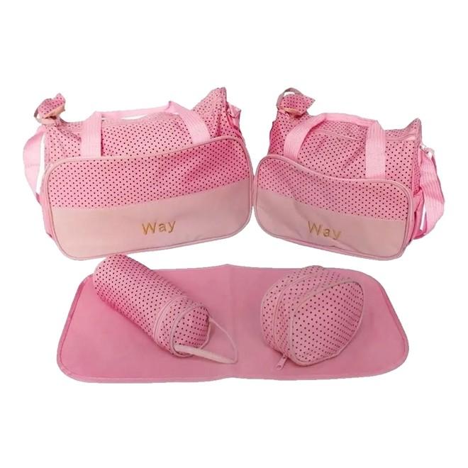 Kit Bolsa Maternidade Rosa IWKBMRS  Importway