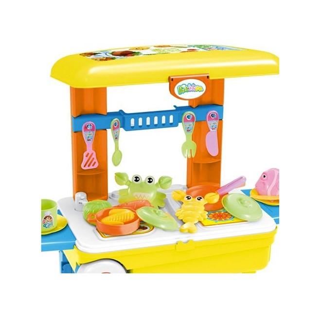 Kit Cozinha Infantil 3 em 1 C/ 28 Peças BW103  Importway