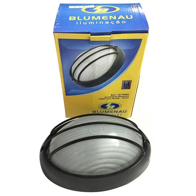 Luminaria Embutir Aluminio Com Grade Preta E27 40W Ref16170001 Blumenau