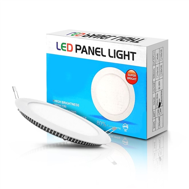 Luminaria Painel Led Light 6W Branco Redonda