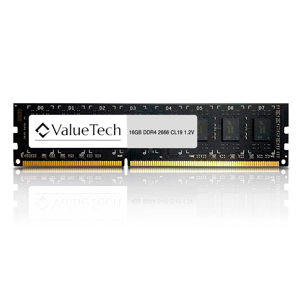 Memoria. 16Gb Ddr4 2666 Cl19 1.2V Desktop VT16G2666L19D Valuetech