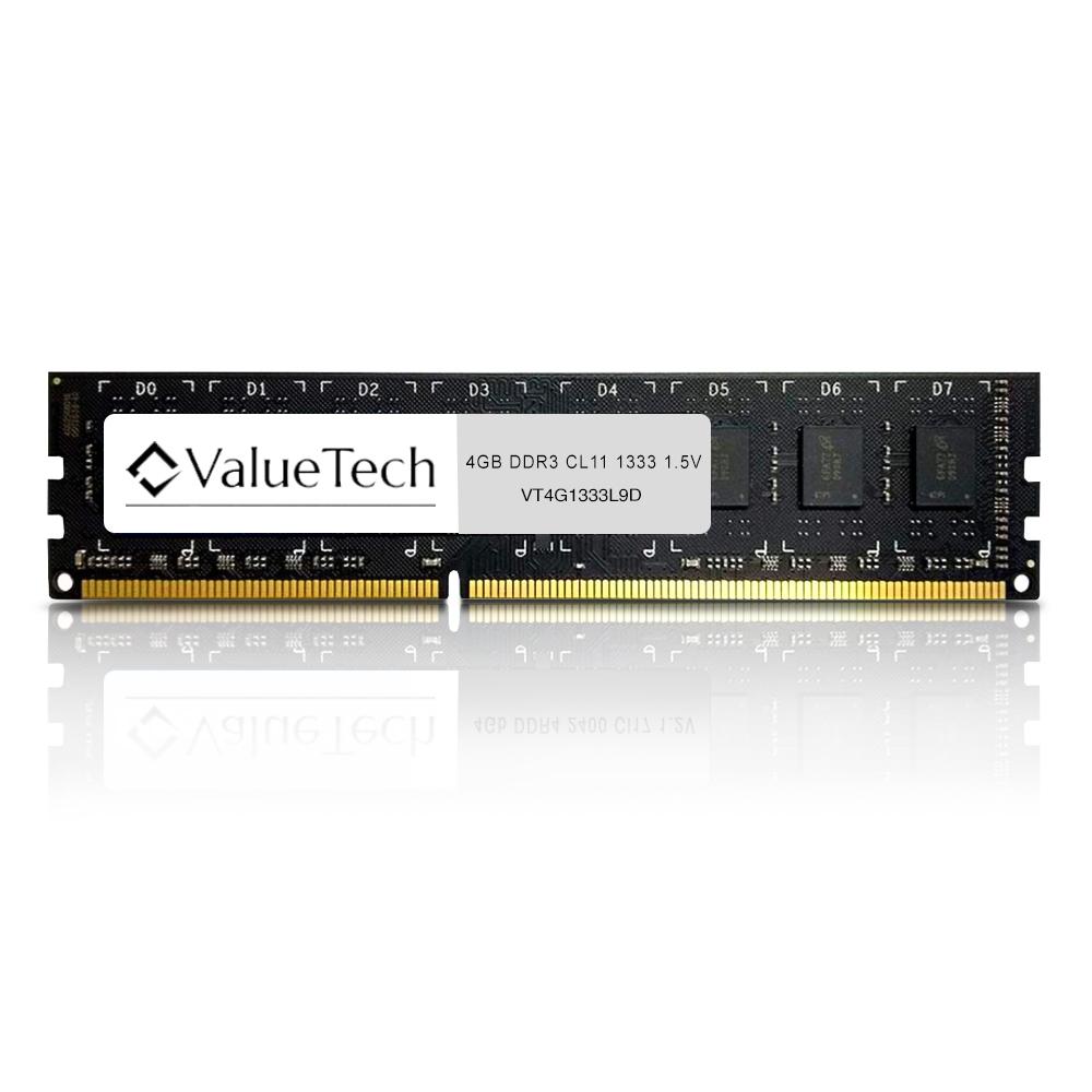 Memoria 4Gb Ddr3 1333 Cl9 1.5V Desktop VT4G1333L9D Valuetech