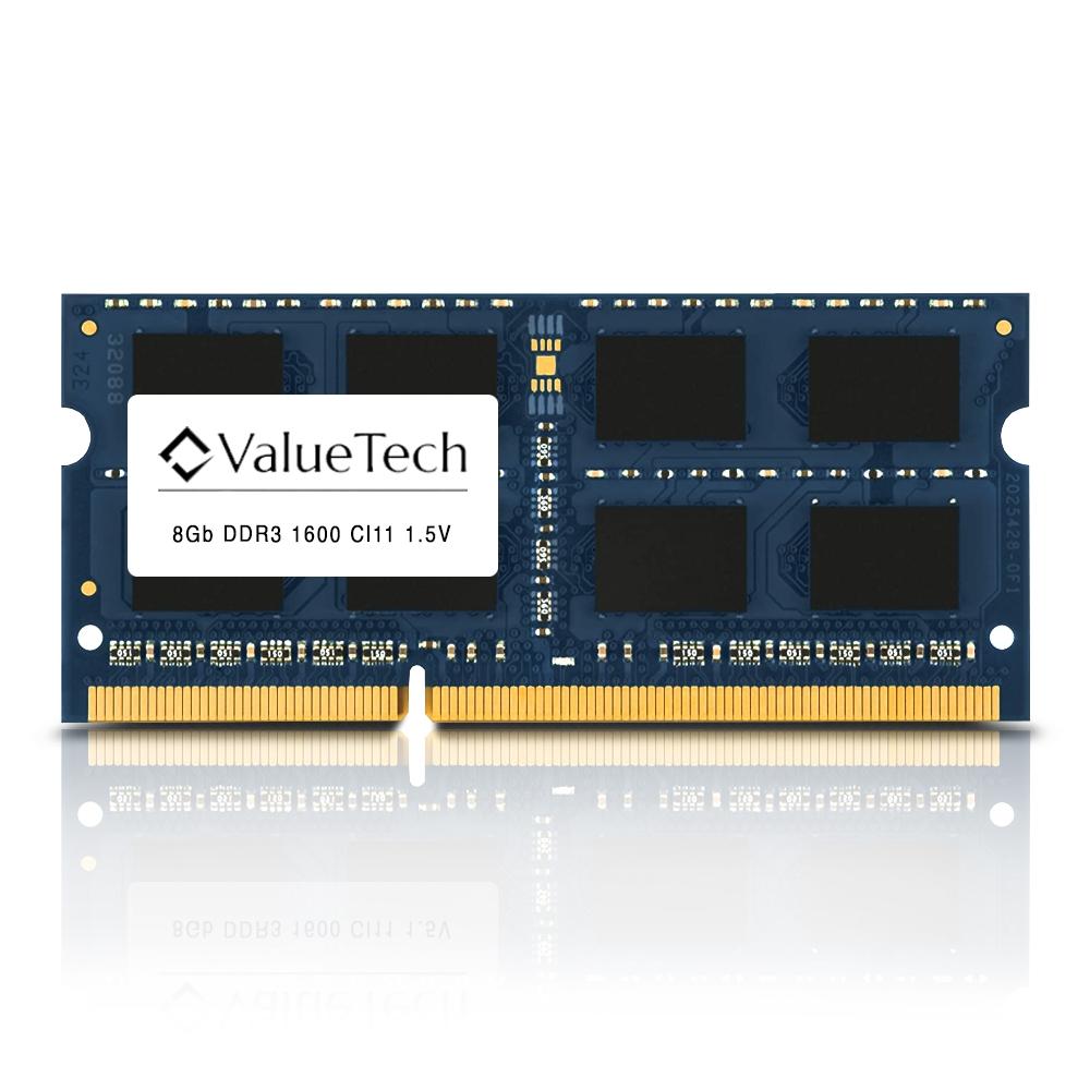 Memoria. Notebook 8Gb Ddr3 1600 Cl11 1.5V   VT8G1600L11N Valuetech