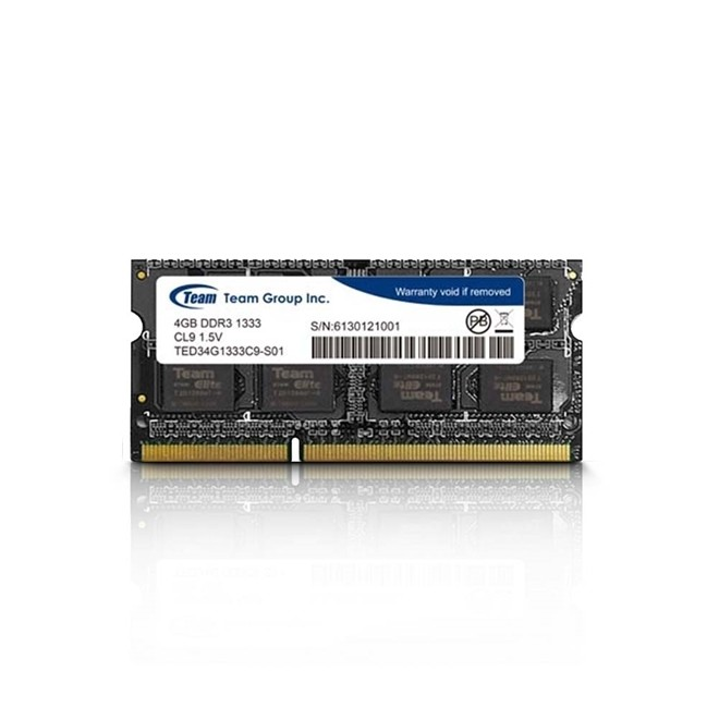 Memoria. Notebook 4gb Ddr3 1333 Cl 9 1.5V   TED34G1333C9S TEAM GROUP