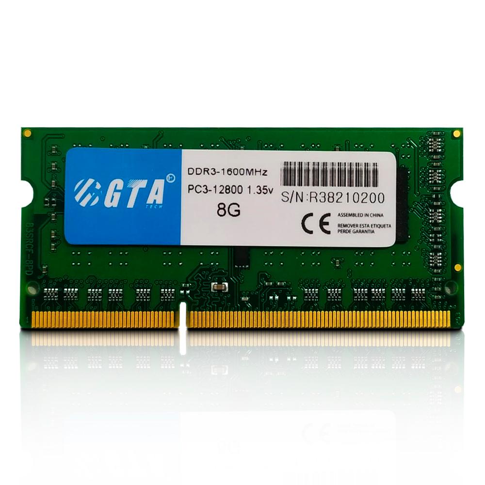 Memoria. Notebook 8Gb Ddr3 1600 Cl 11 1.35V GT8G1600L11N GTA Tech