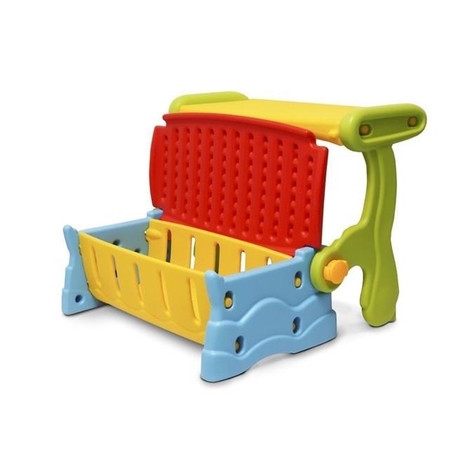 Mesa Infantil 3 em 1 Plastico Banco Bau Cadeira Colorido IWMI-3x1 Importway