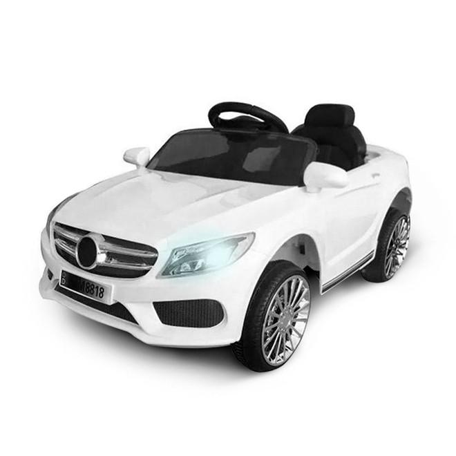 Mini Carro Eletrico 6v Infantil Branco 3km/h com Controle BW007BR Importway