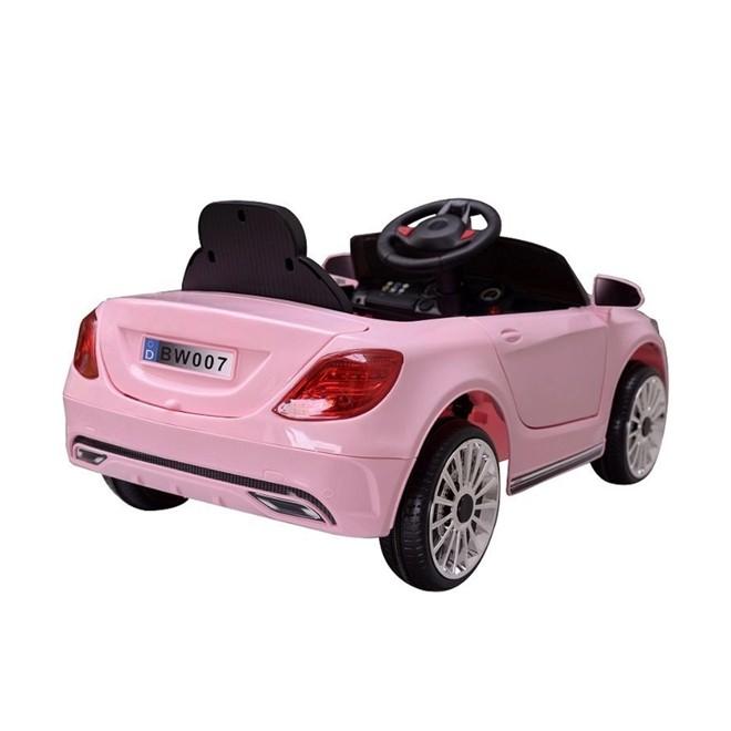 Mini Carro Eletrico 6v Infantil Rosa 3km/h com Controle BW007RS Importway