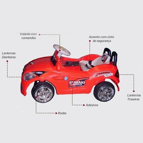 Mini Carro Eletrico 6v  Infantil  - VERMELHO BW001 IMPORTWAY