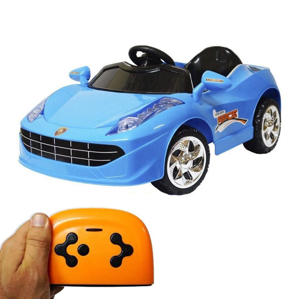 Mini Carro Eletrico Infantil 6v Azul C/ Chave e Controle BW097AZ Importway