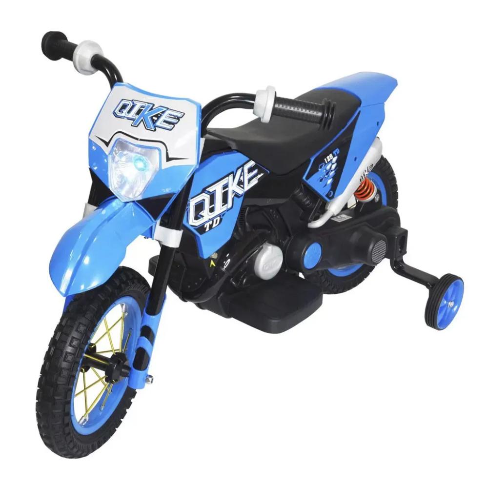 Mini Moto Cross Eletrica Infantil 6v Azul BW083AZ Importway