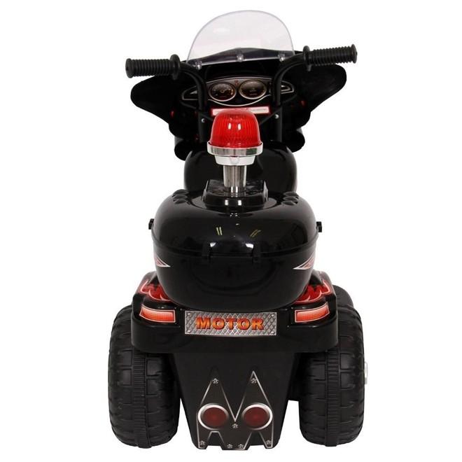 Mini Moto Eletrica Infantil Policia 6V 18W Preta BW002PT Importway
