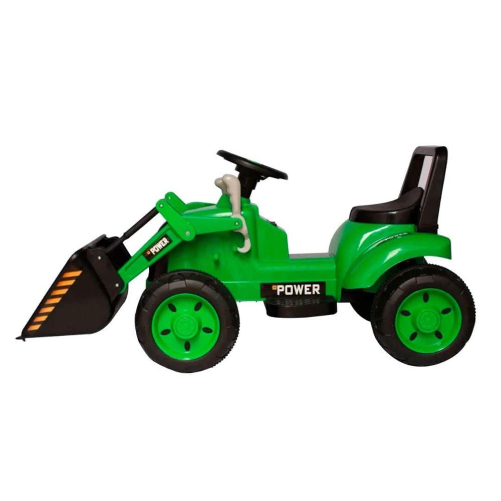 Mini Trator Eletrico 6v Infantil Escavadeira Verde BW081VD Importway