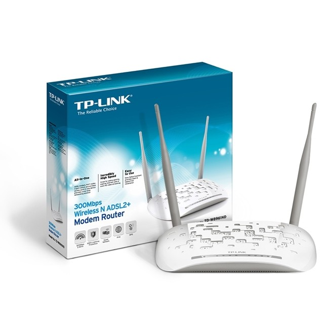 Modem Roteador Wireless 300mbps 2 Antenas Td-W8961nd Tp Link