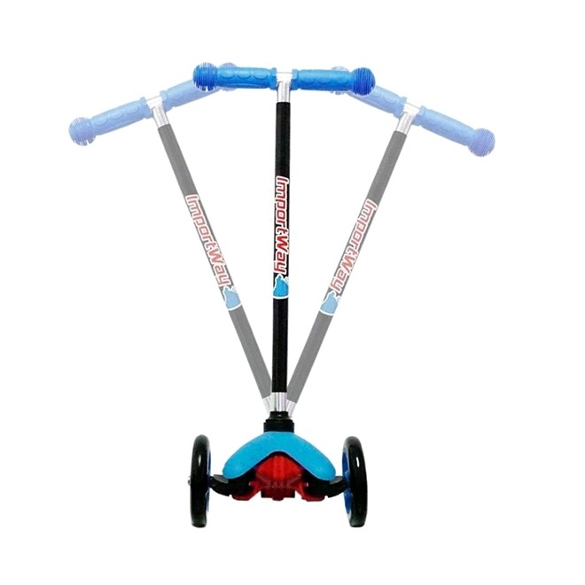 Patinete Infantil 3 Rodas com Altura Regulavel Azul BW11AZ Importway