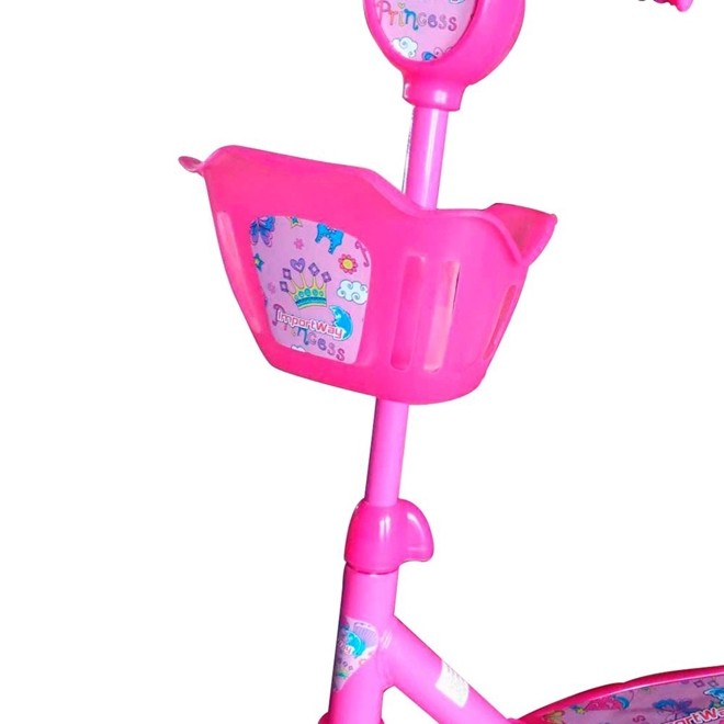 Patinete Infantil 3 Rodas com Cesta Rosa BW010R Importway