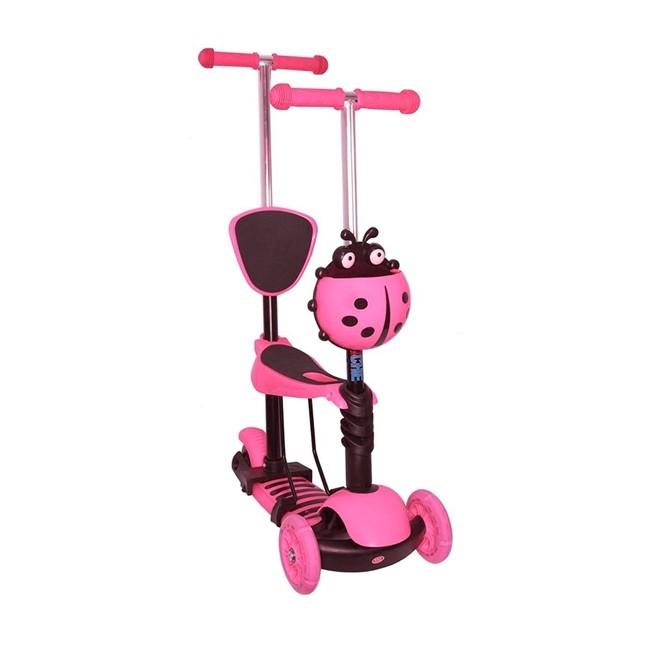 Patinete Infantil com Assento Retratil Rosa BW048RS Importway
