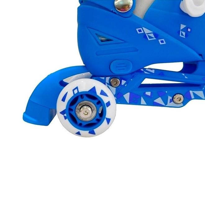 Patins 3 Rodas 2 em 1 Azul Tamanho PP BW022AZPP Importway