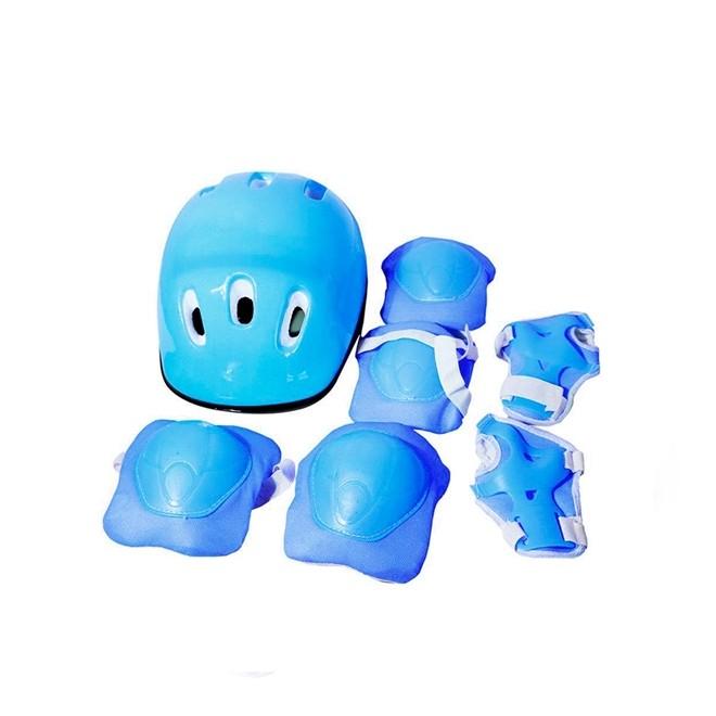 Patins 3 Rodas 2 em 1 com Kit de Proteção Azul PP N.27/30 BW023AZPP Importway
