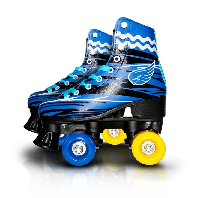 Patins 4 Rodas Roller Classico azul N.34/35 Freio Traseiro BW020az-34/35 Importway