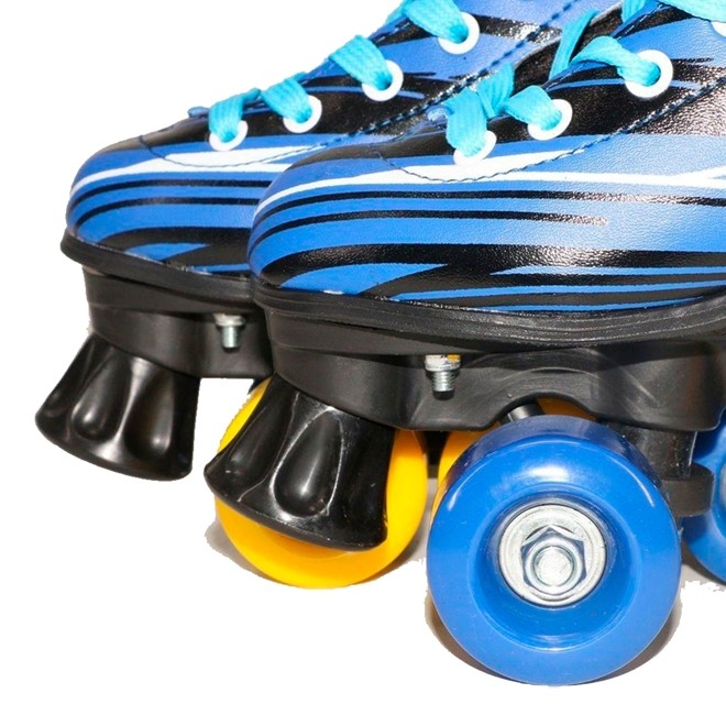 Patins 4 Rodas Roller Classico azul N.36/37 Freio Traseiro BW020az-36/37 Importway