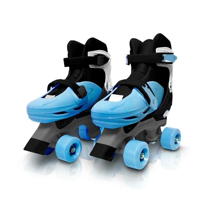 Patins 4 Rodas Roller Classico Azul N.39/42 Grande BW016AZG Importway