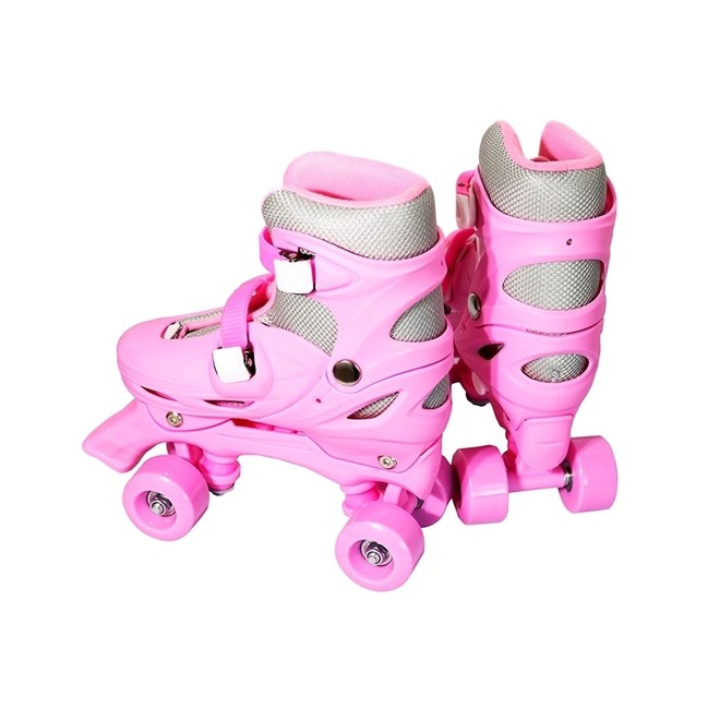 Patins 4 Rodas Roller Classico Rosa N.31/34 pequeno BW016RP Importway