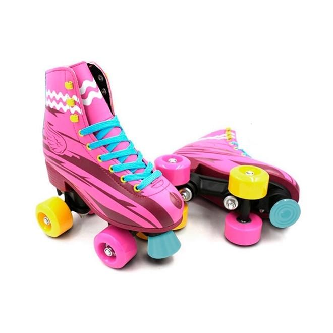 Patins 4 Rodas Roller Classico Rosa N.36/37 Bw020r Importway