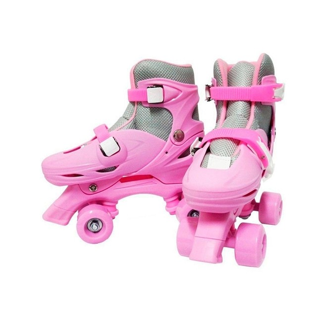 Patins 4 Rodas Roller Classico Rosa N.39/42 Grande BW016RG Importway