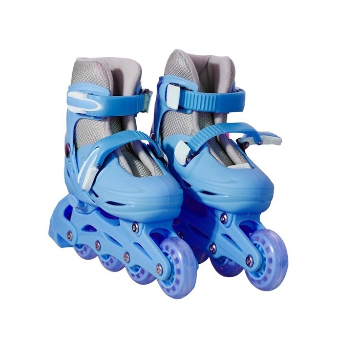 Patins 4 Rodas Roller In Line Azul N.31/34 Pequeno BW018AZP Importway