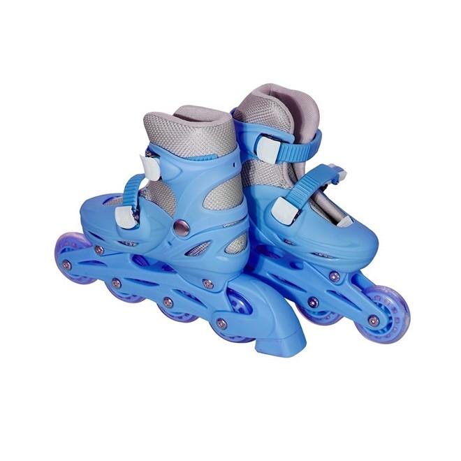 Patins 4 Rodas Roller In Line Azul N.39/42 Grande BW018AZG Importway