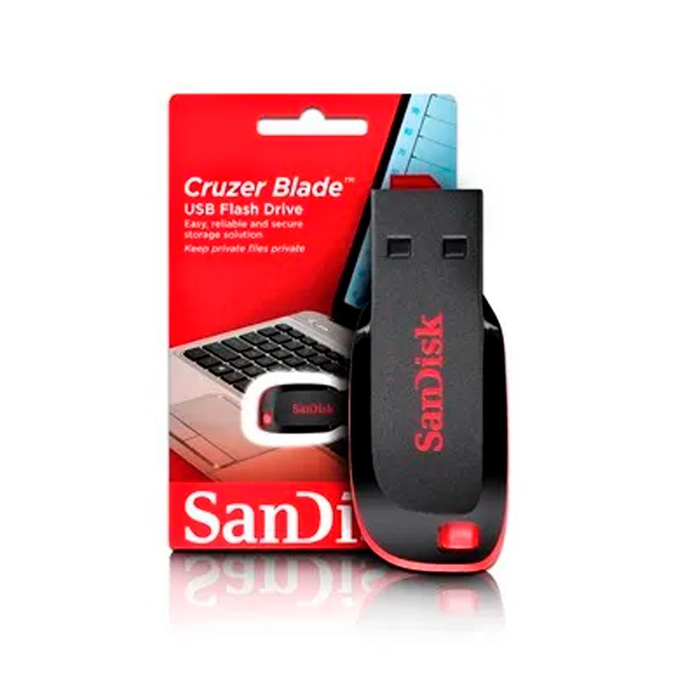 Pen Drive 64gb Usb 2.0 Cruzer Blade SDCZ50-064G SANDISK