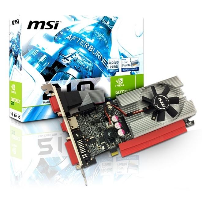 Placa de Video GT210 1Gb Ddr3 64Bit Vga/Hdmi/Dvi N210-MD1G/D3 MSI