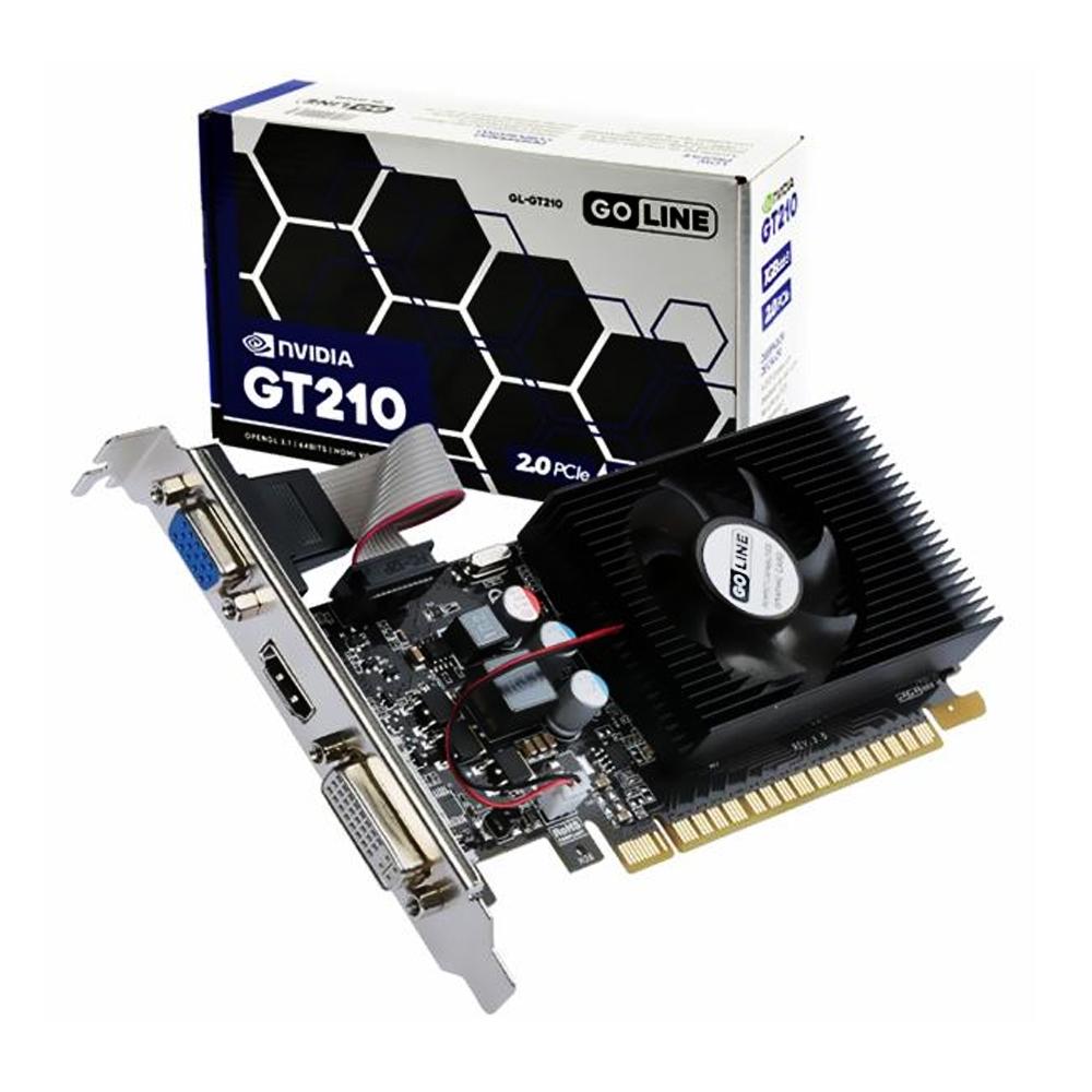 Placa de Video 1Gb GT210 Ddr3 64bit Vga/Hdmi/Dvi Low Profile GL-GT210 Goline
