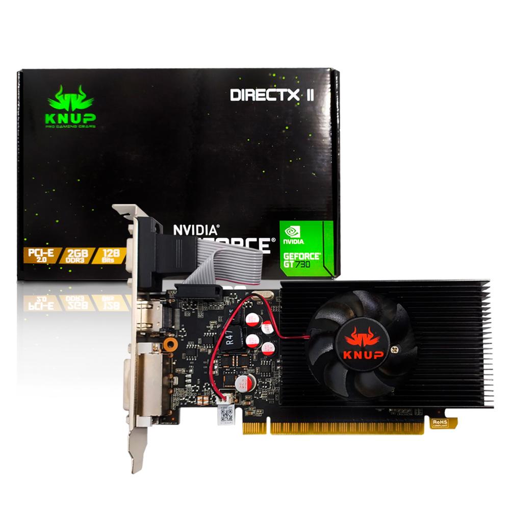 Placa de Video 2Gb GT730 Ddr3 128bit Vga/Hdmi/Dvi KP-GT730/AB Knup